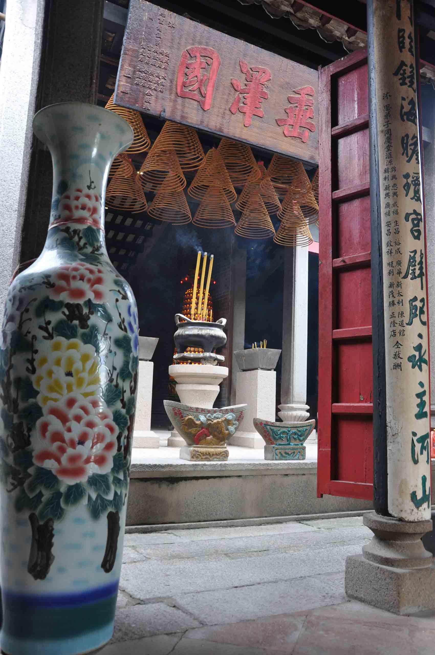 Tin Hau Temple big flower vase