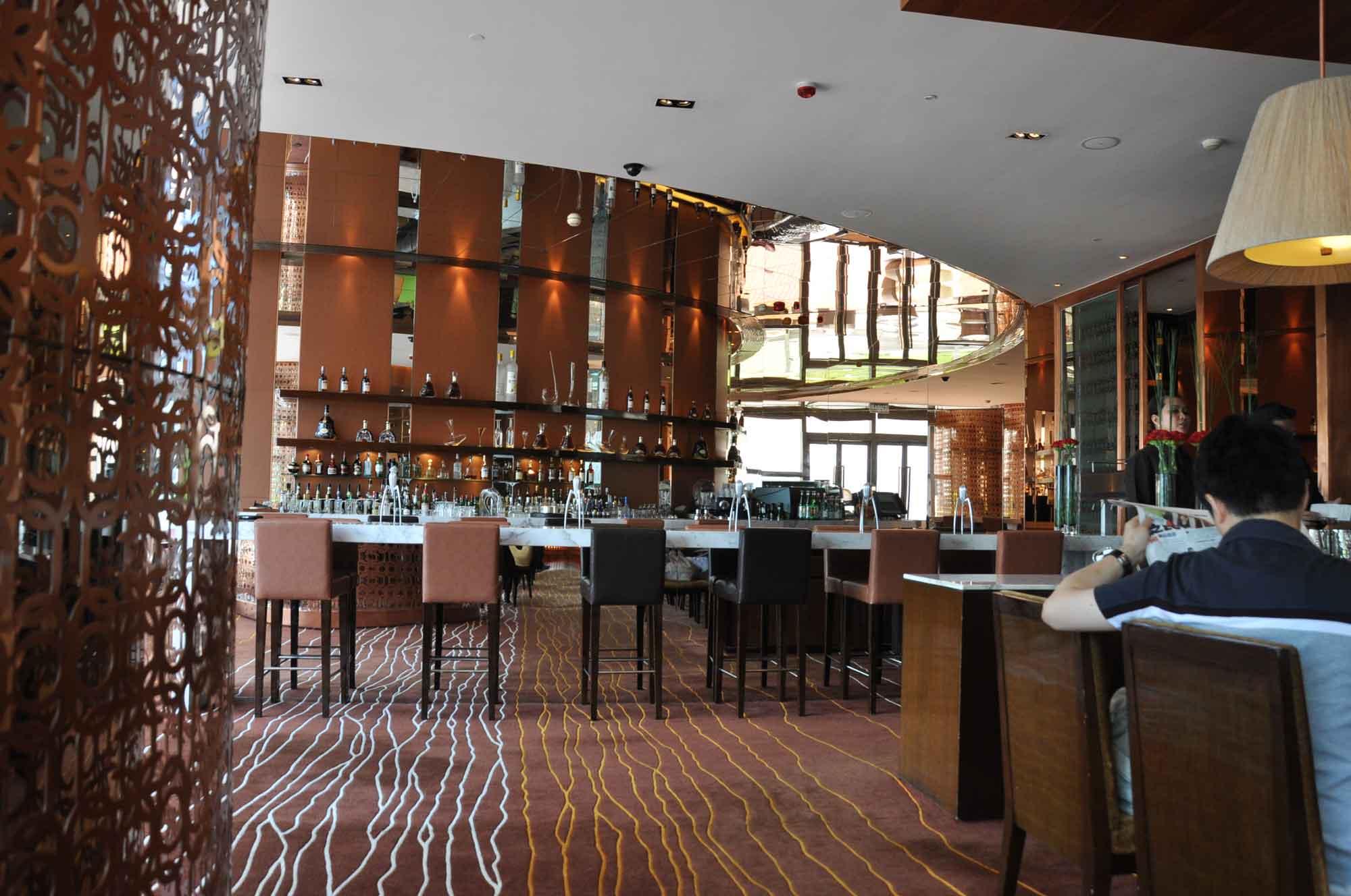 Aurora Macau bar and seats