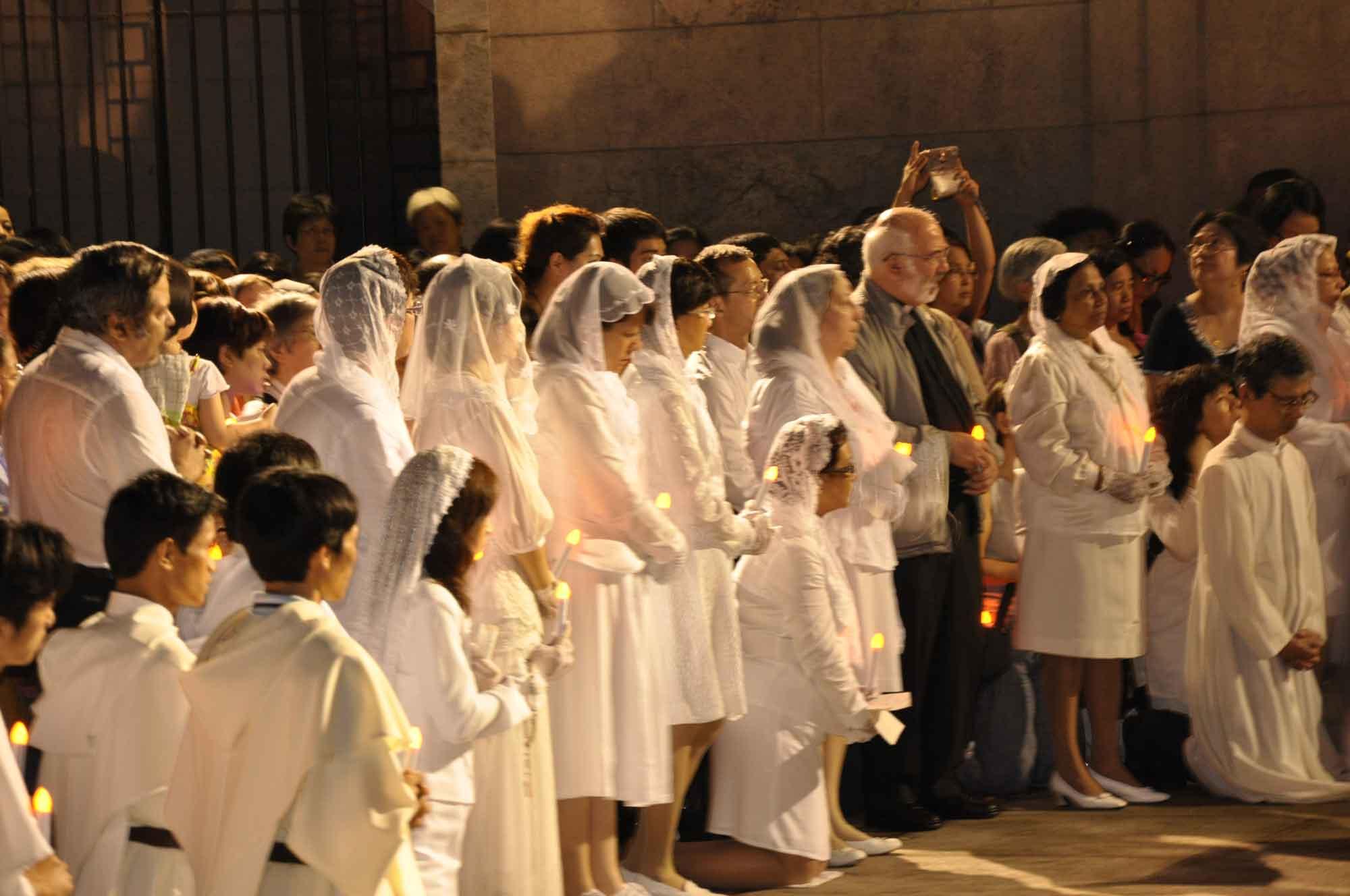 Macau's Our Lady of Fatima Procession at Penha Church service