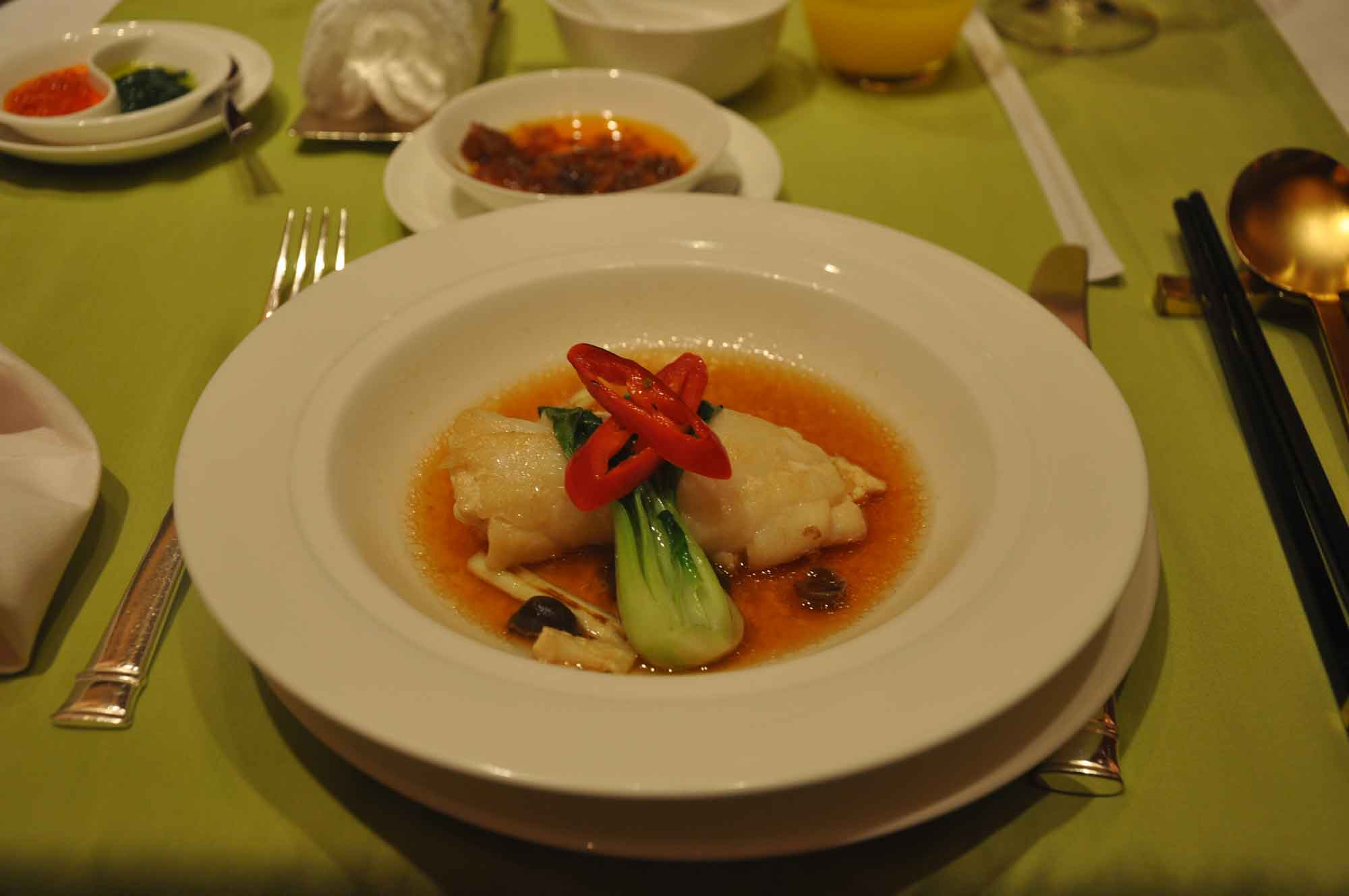 Wing Lei steamed codfish roll