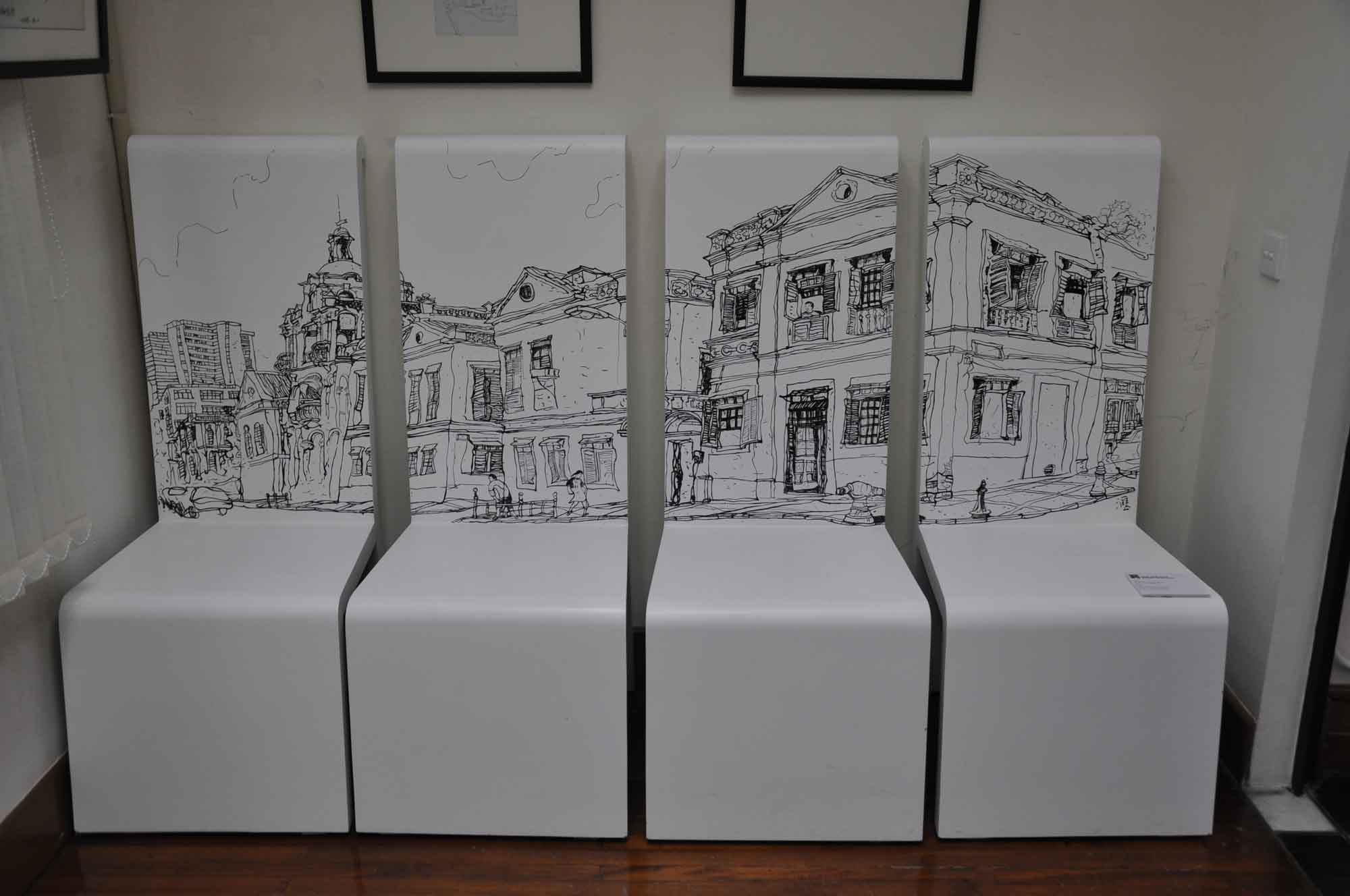 10 Fantasia Macau set of four chairs of St. Lazarus District