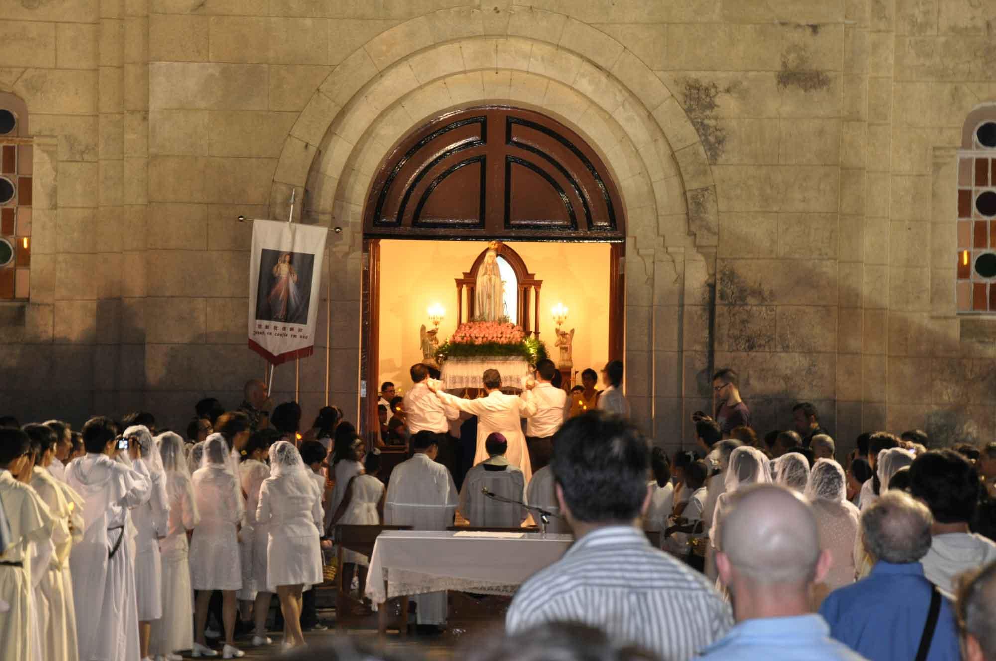 Macau's Our Lady of Fatima Procession finishing at Penha Church