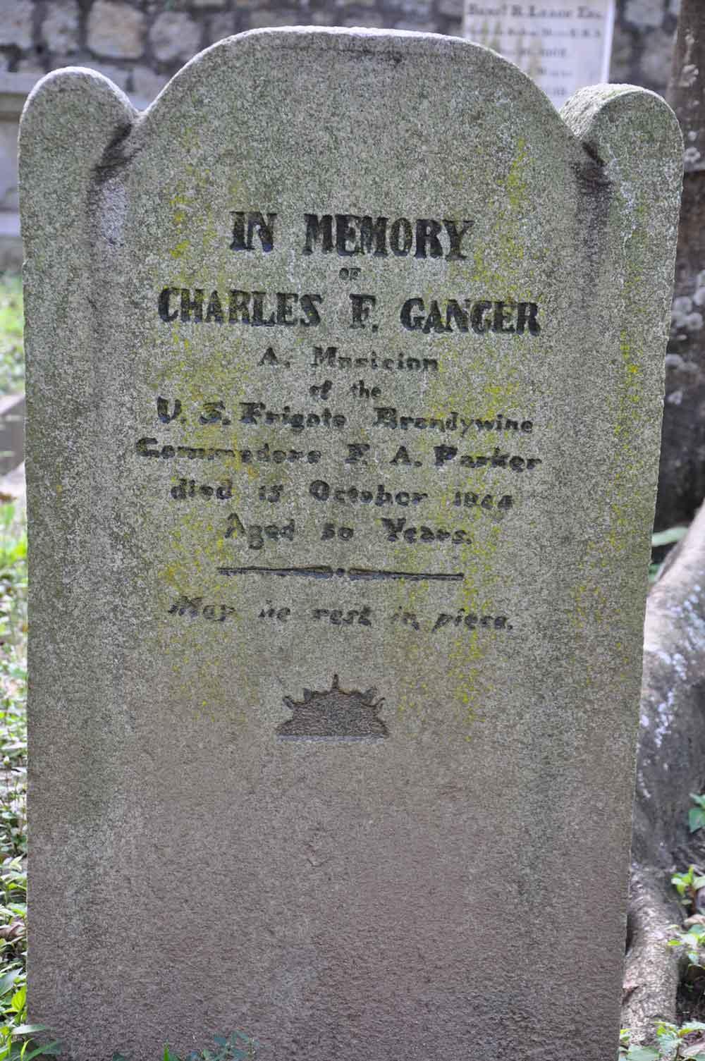 Protestent Cemetery gravestone