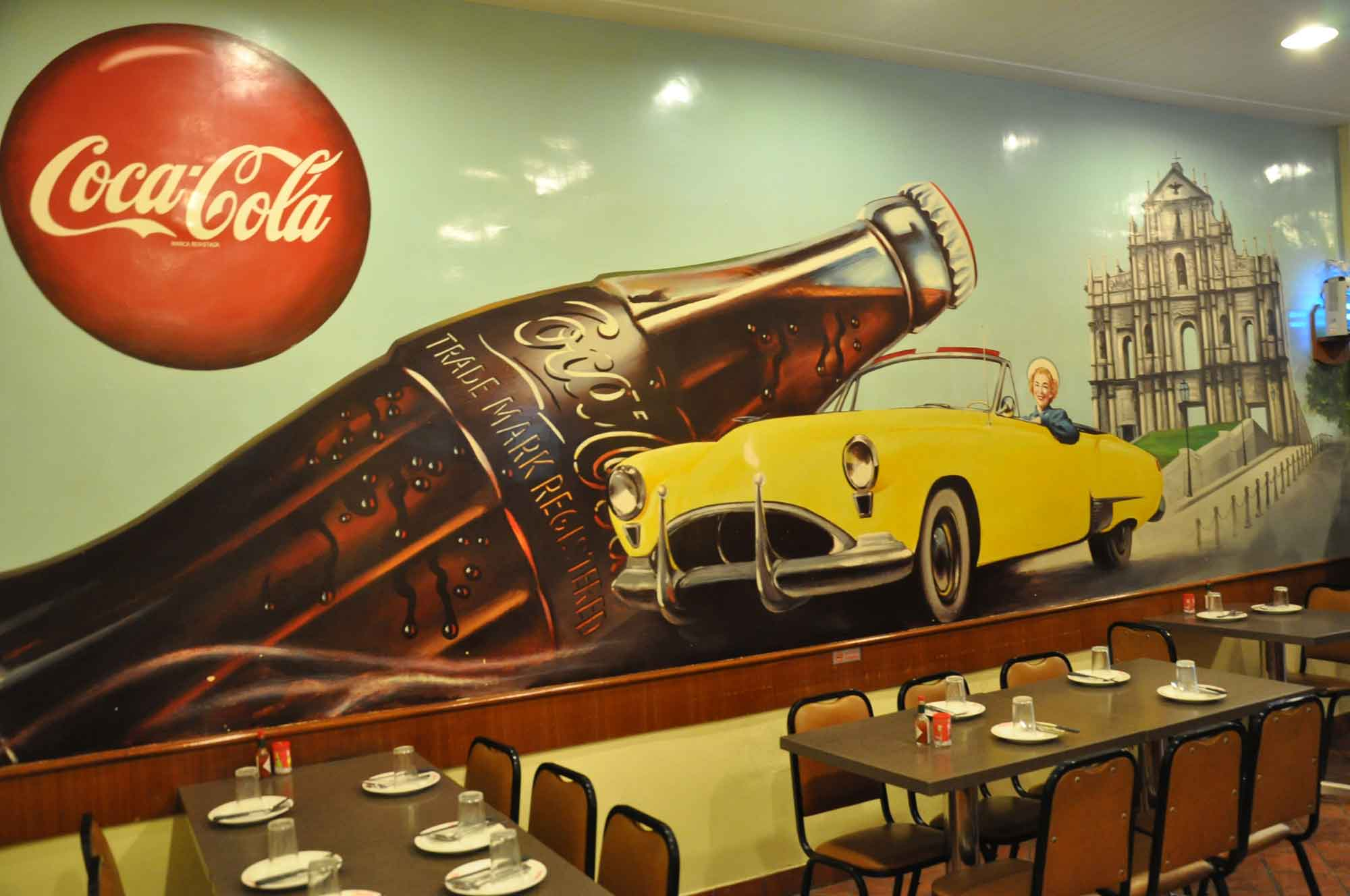 Man Lei Cheong Seng Coke wall painting
