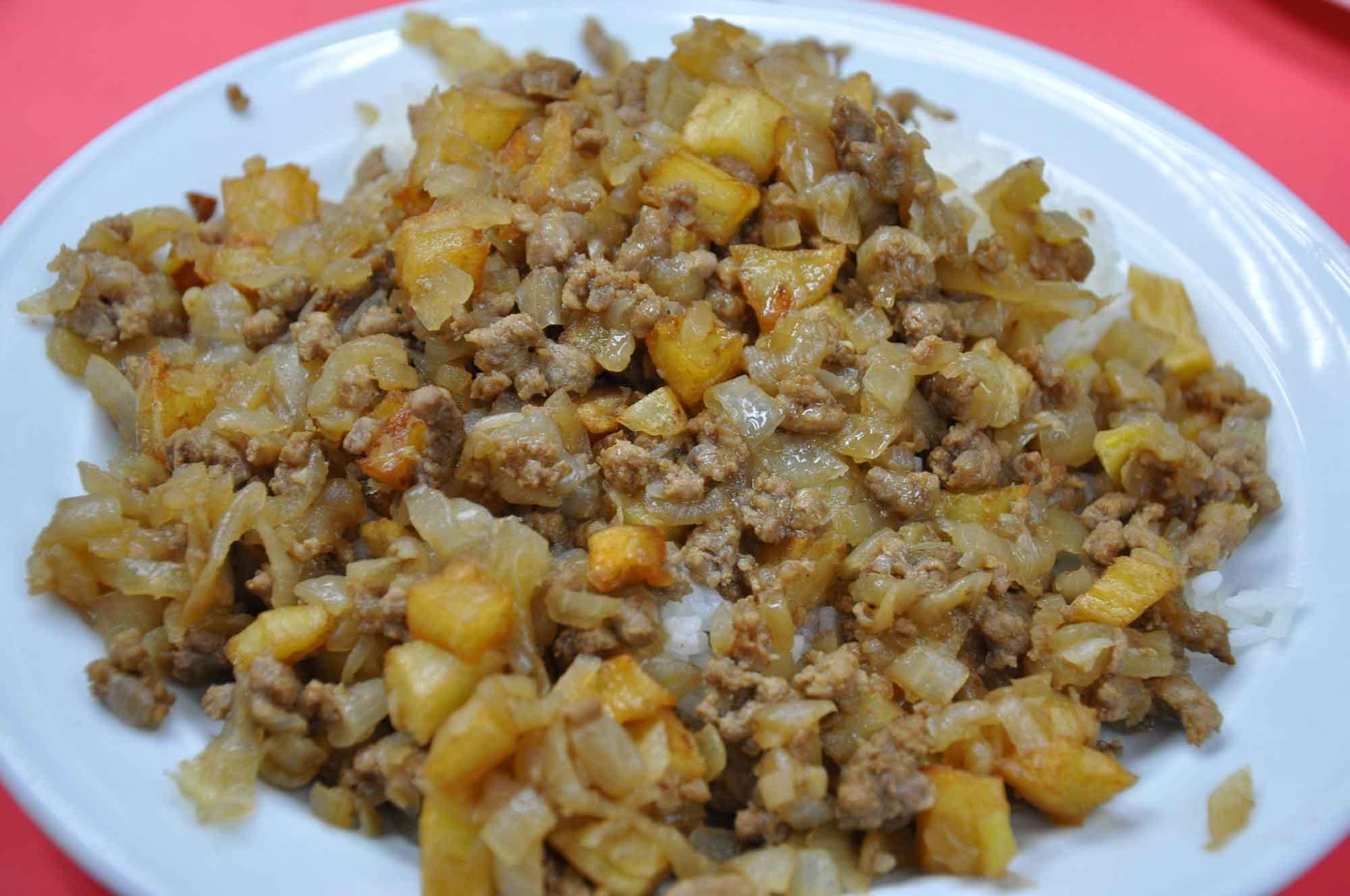 Best Macau Dishes: Minchi at Rickshaw Macau