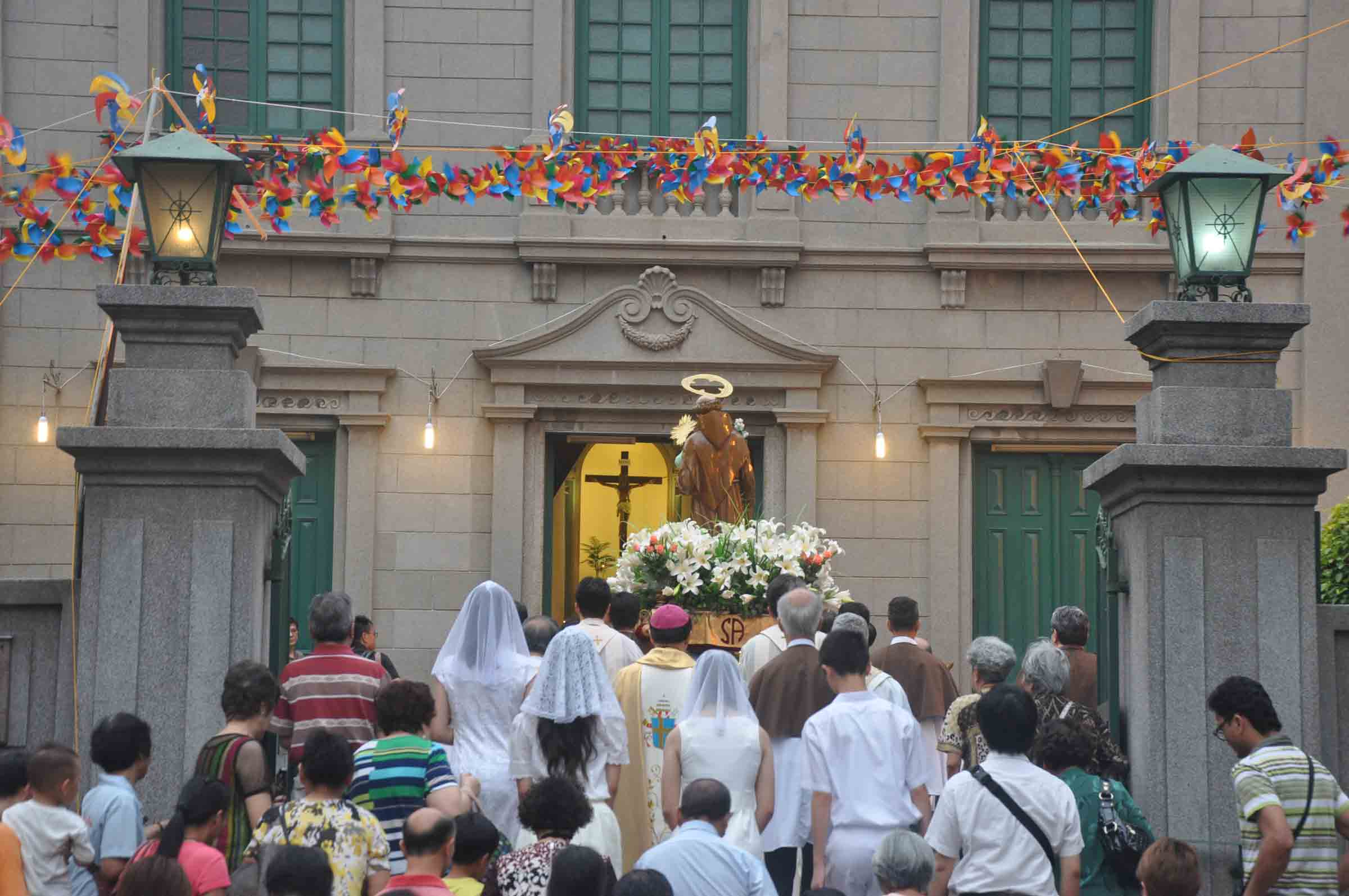 The St. Anthony Procession finishing at St. Anthony Church