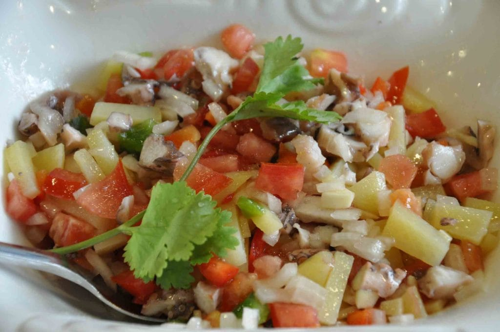 A Baia Macau Octopus salad