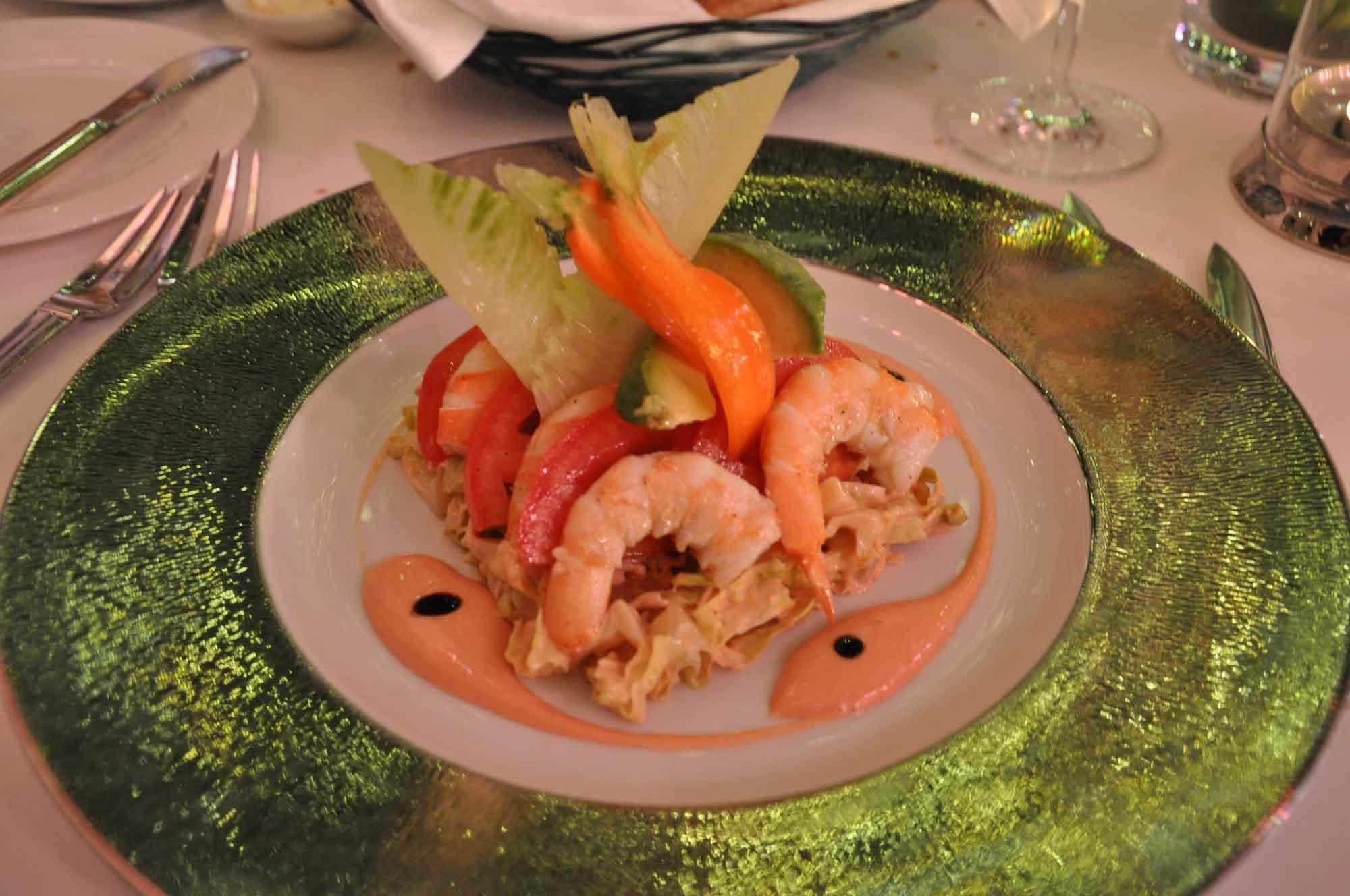 Aux Beaux Arts Macau shrimp cocktail
