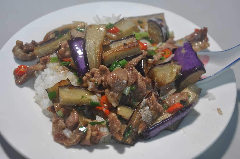 Macau Street Food: Fish Eggplant Rice