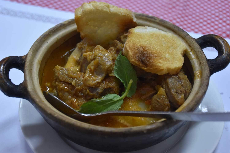 O Santos Macau lamb stew Alentejo style