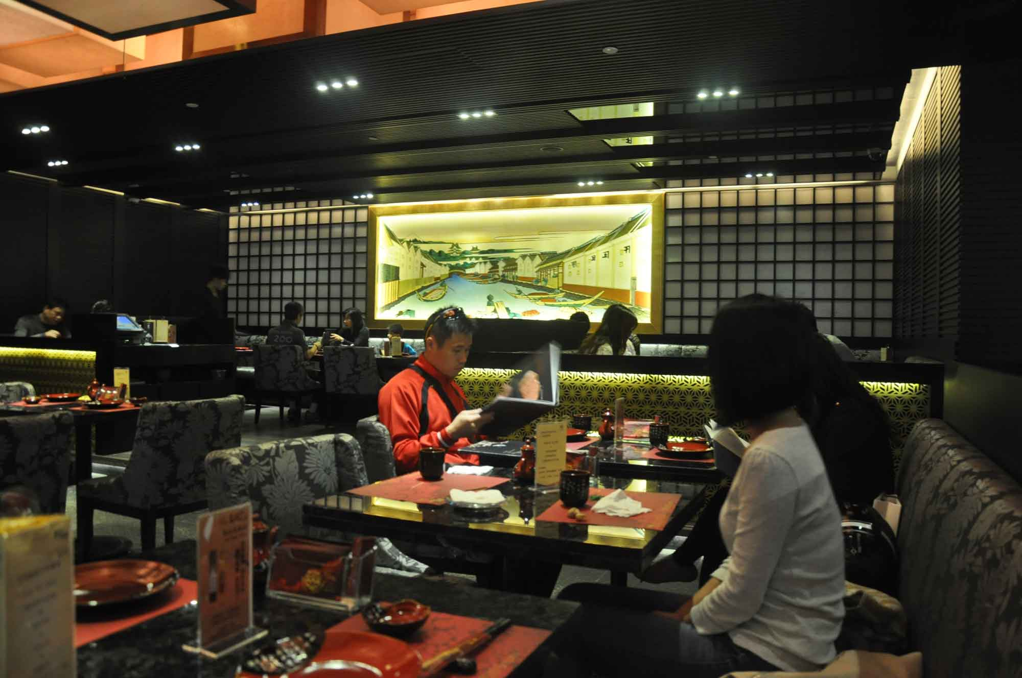 Fortuna Japanese Restaurant interior seating