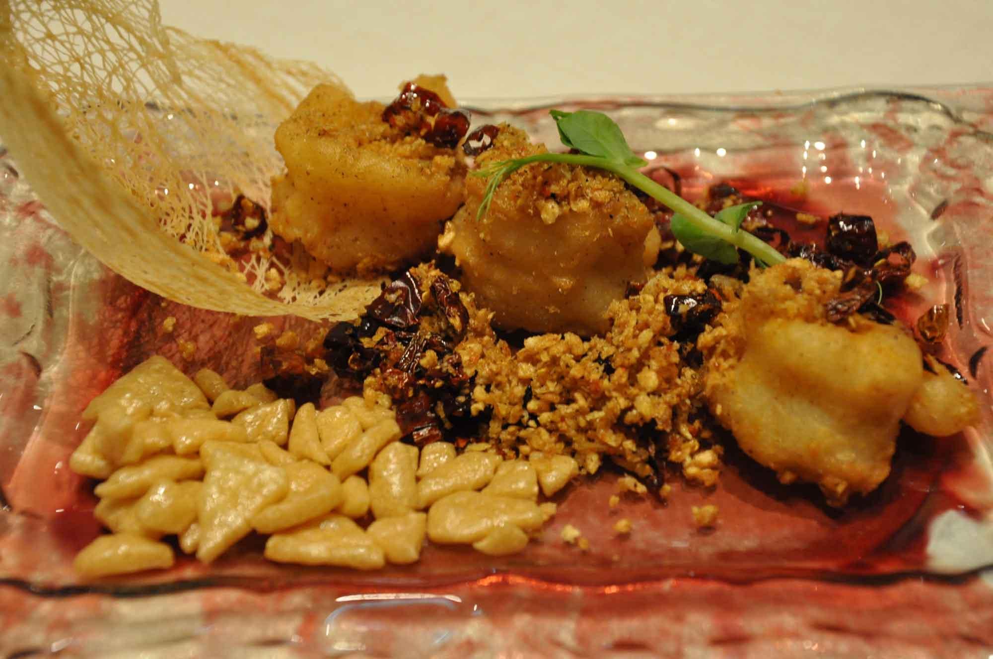 Lai Heen Macau Deep Fried Shrimp Toast