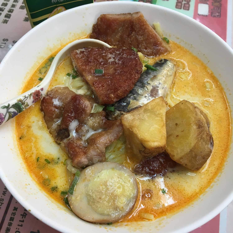Macau Street Food: chicken laksa at Little Panda