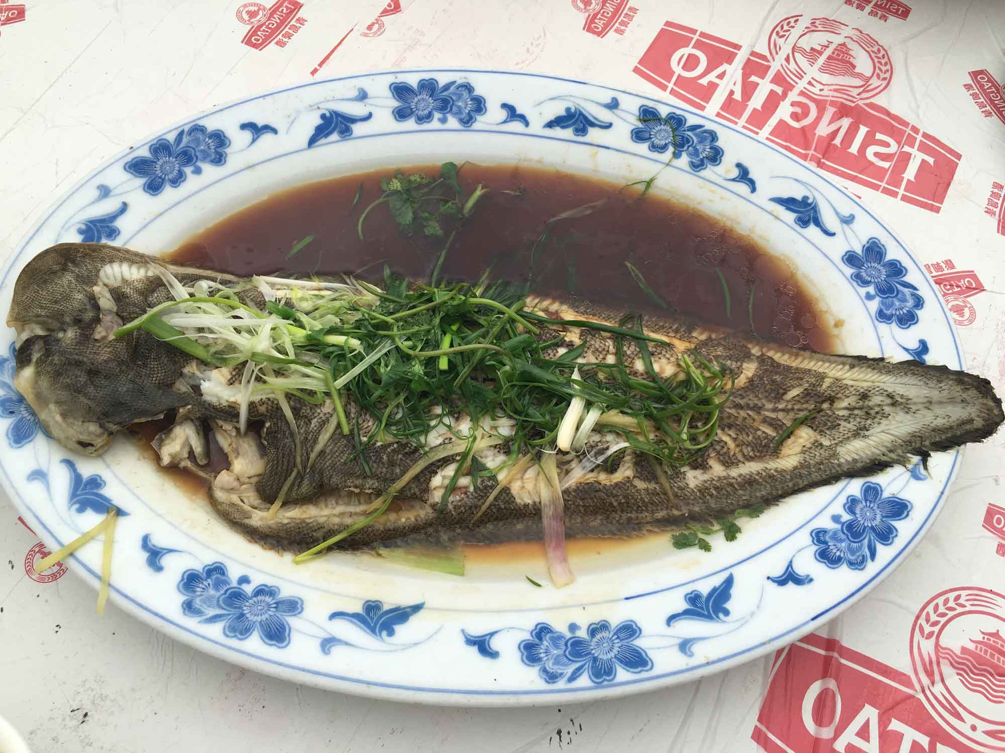 He Fa Ma Tou Mei Shi steamed grouper fish