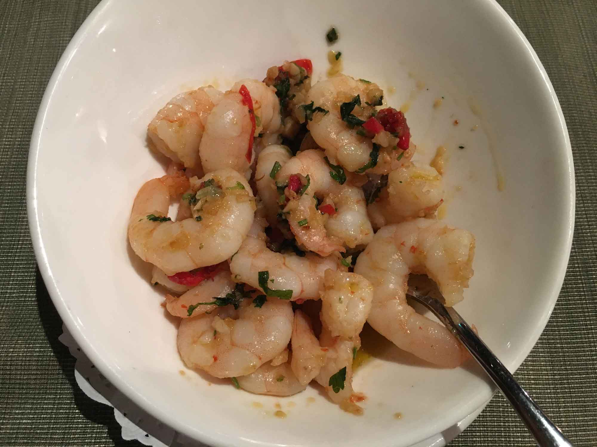 Litoral Macau garlic shrimp