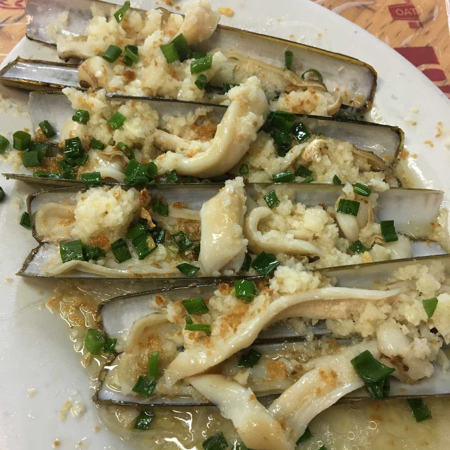 Best Macau Dishes: Razor Clams at He Fa Ma Tou Mei Shi