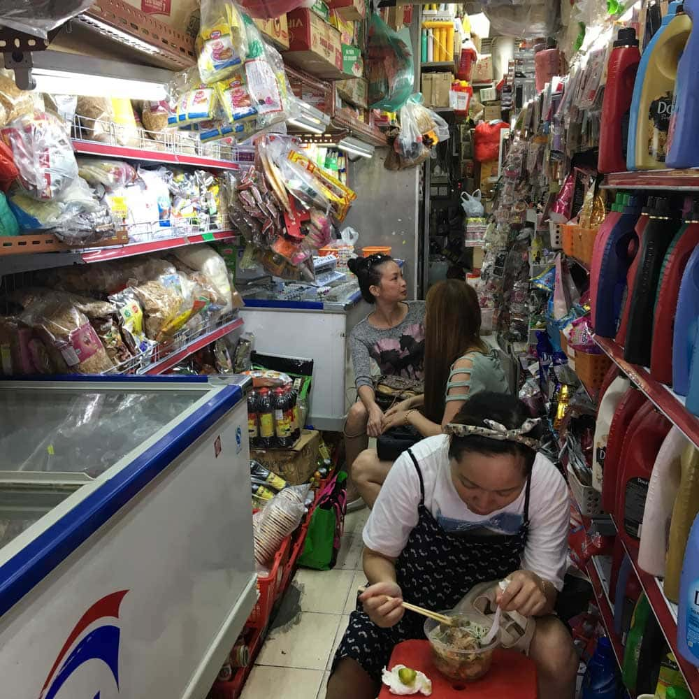 Macau Street Food: Vietnamese Noodles Restaurant interior
