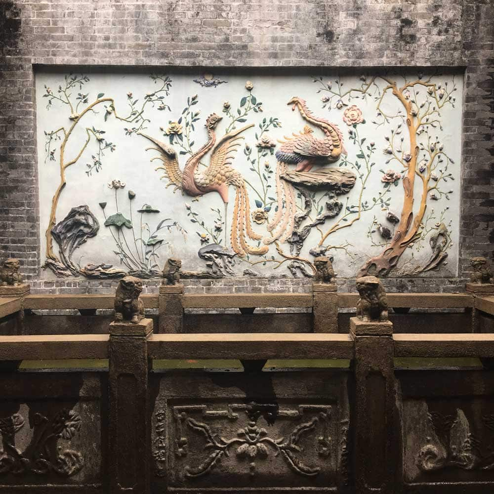 Lin Fung Temple Macau dragon carving