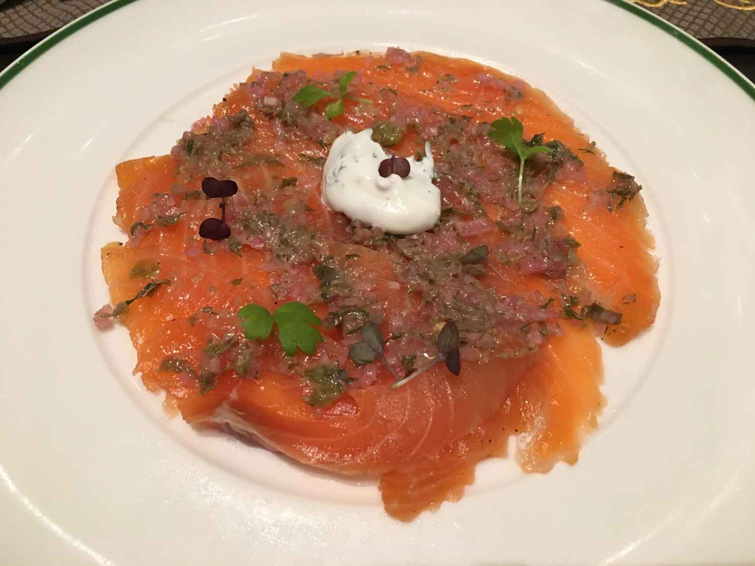 Brassiere Macau home cured salmon with dill