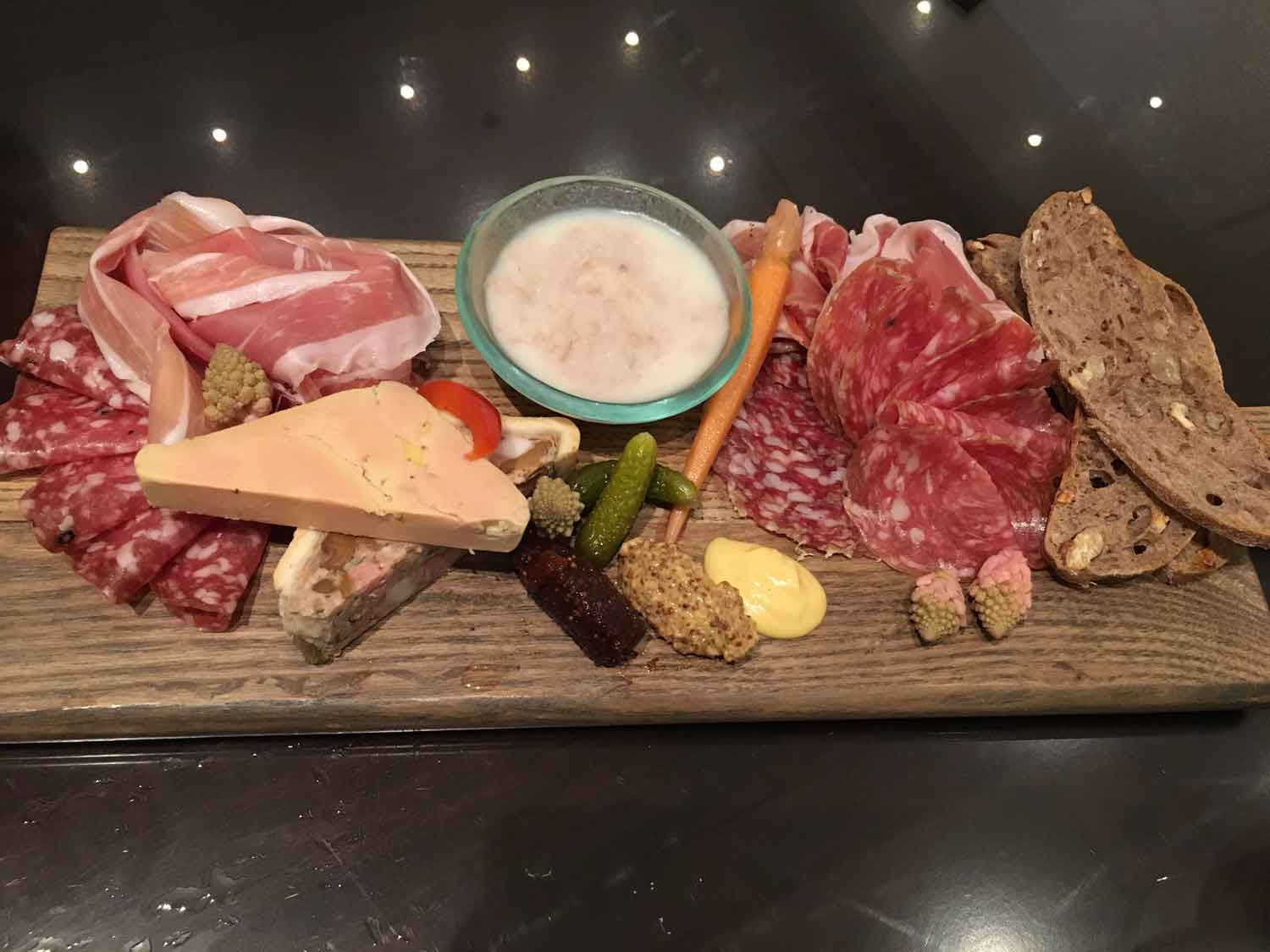 Brassiere Macau cured meat platter
