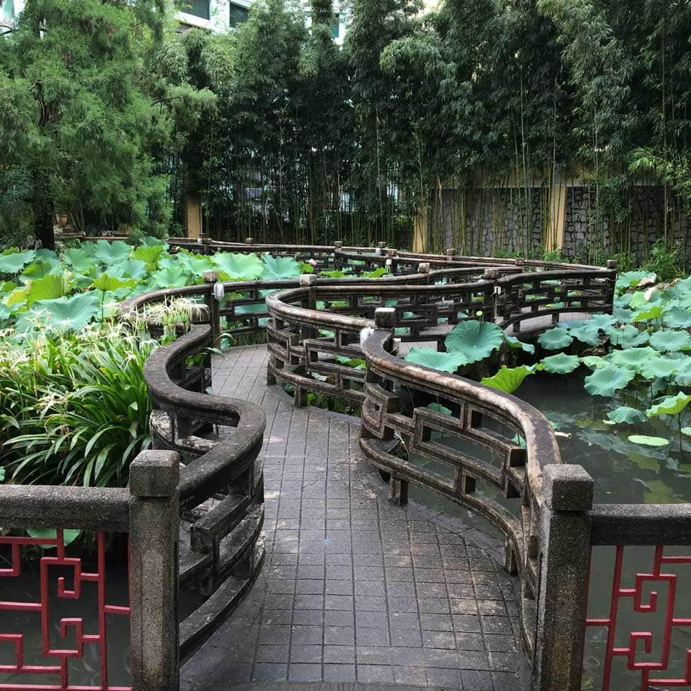 Lou Lim Ieoc Garden pond pathway