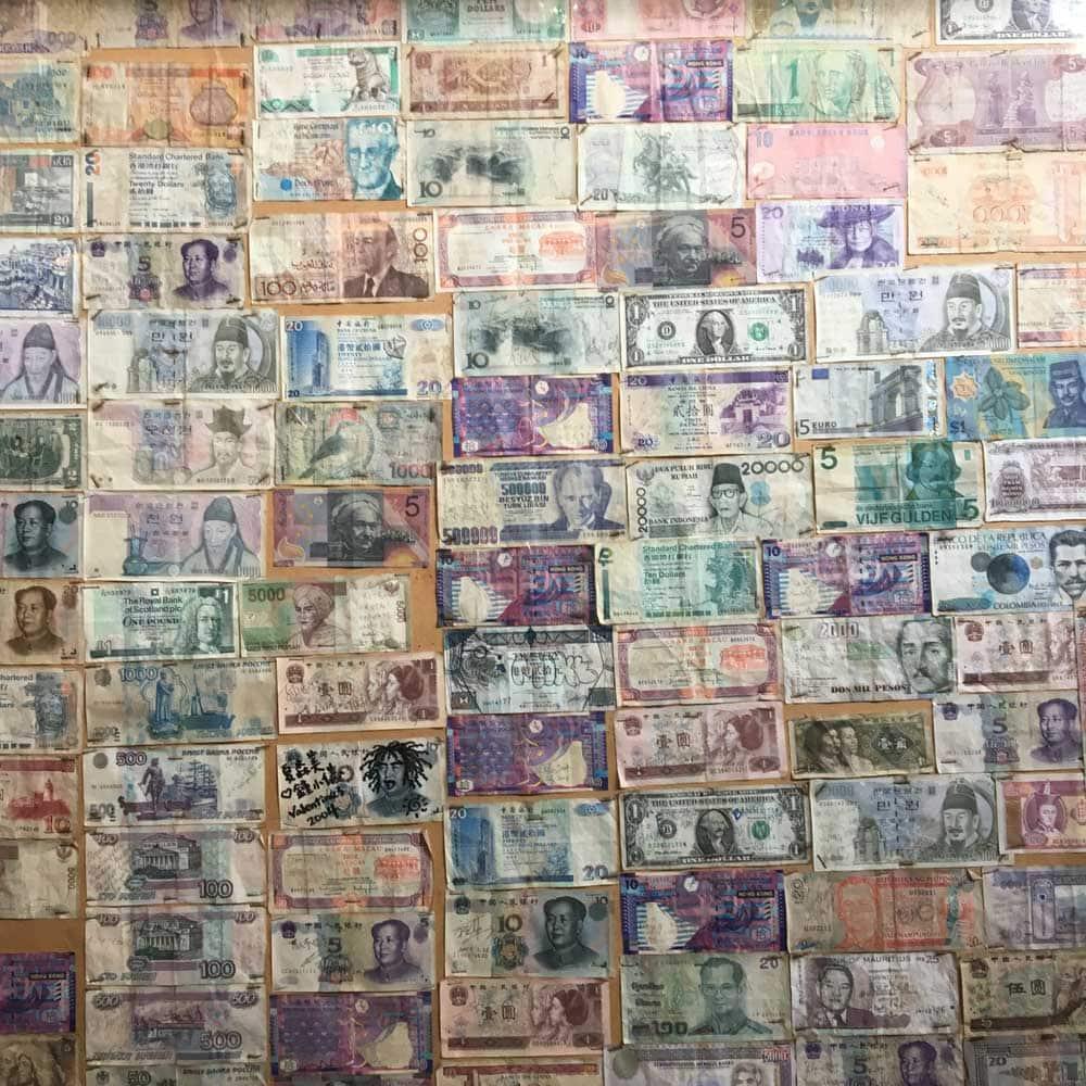 Fernando Macau wall of money