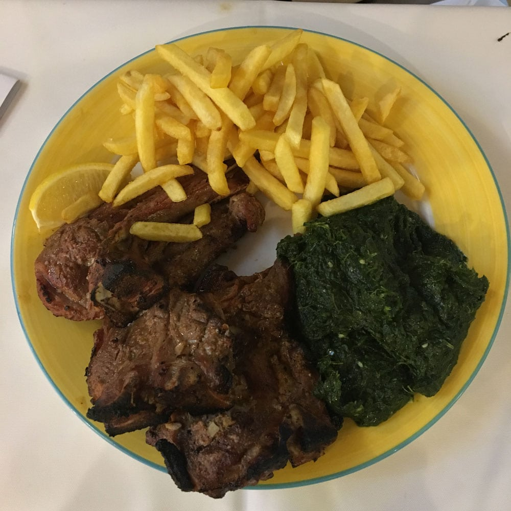 Espaço Lisboa grilled lamb chops