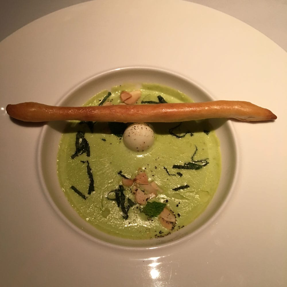Prive Macau Green Pea and Fresh Mint Soup
