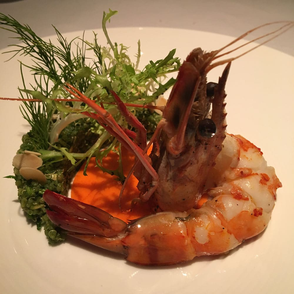 Prive Macau Spring Quinoa and King Prawn