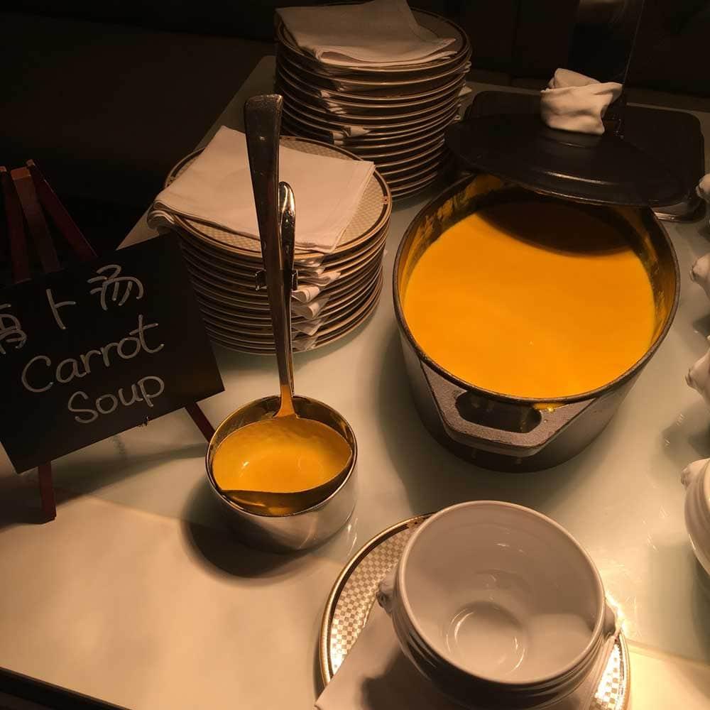 Ritz-Carlton Cafe Macau carrot soup