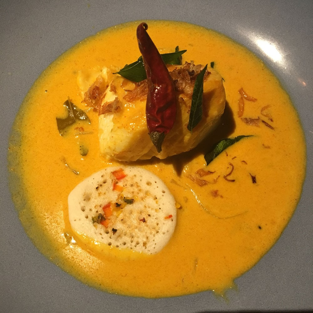 Quilon Fish Curry at Golden Peacock