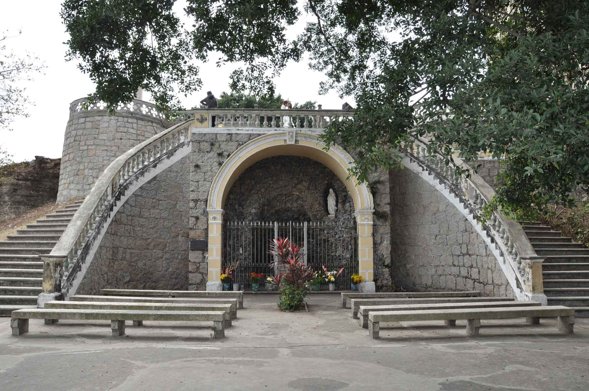 Penha Church stairs and shrine