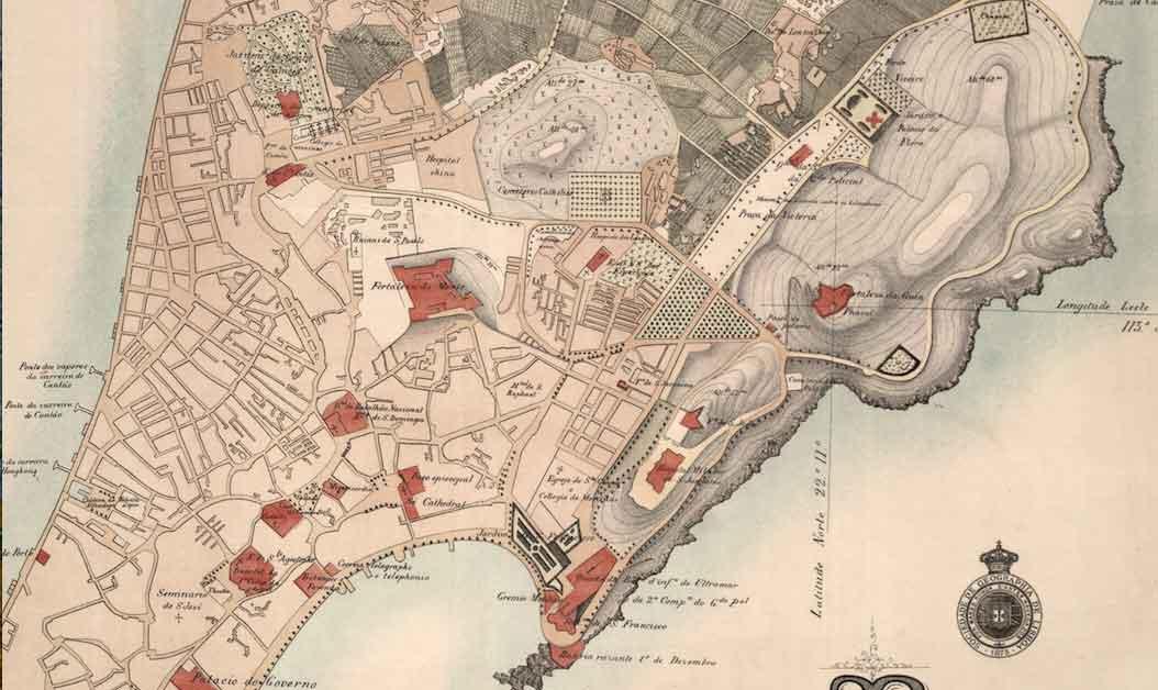 Old Macau map