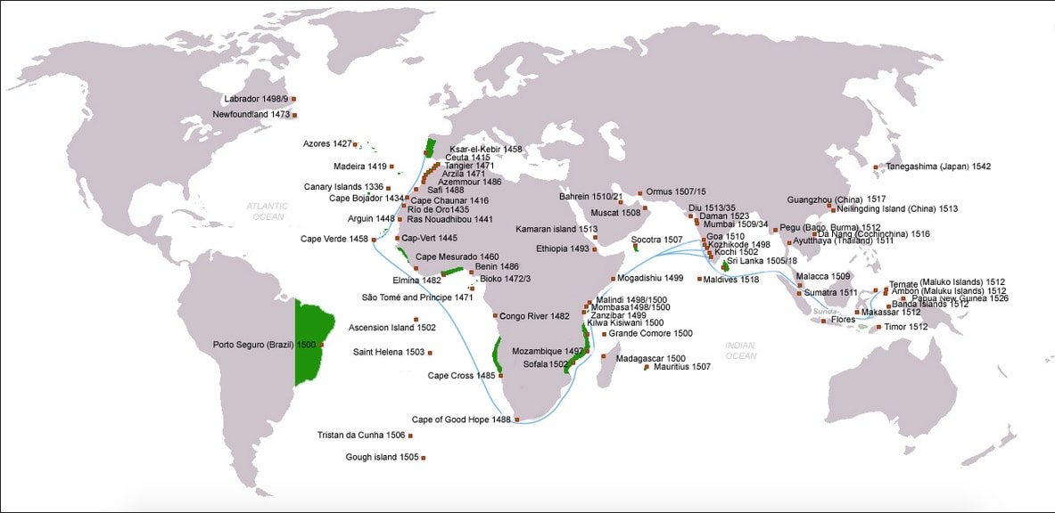 Map of Portuguese Discoveries