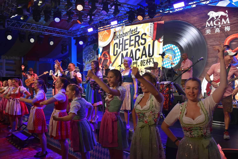 Oktoberfest Macau main stage with dancers