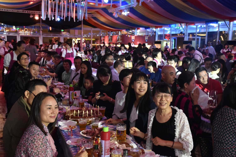 Oktoberfest Macau beer hall spectators
