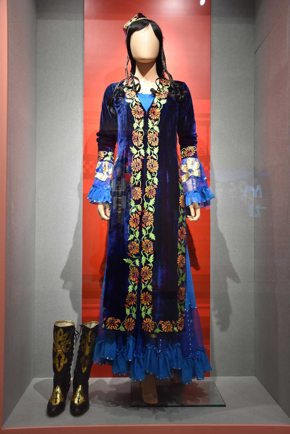 The Sculpture Park of Chinese Ethnics minority dress