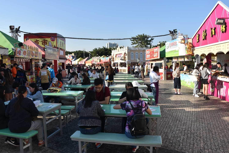 Macau Food Festival outdoor seating
