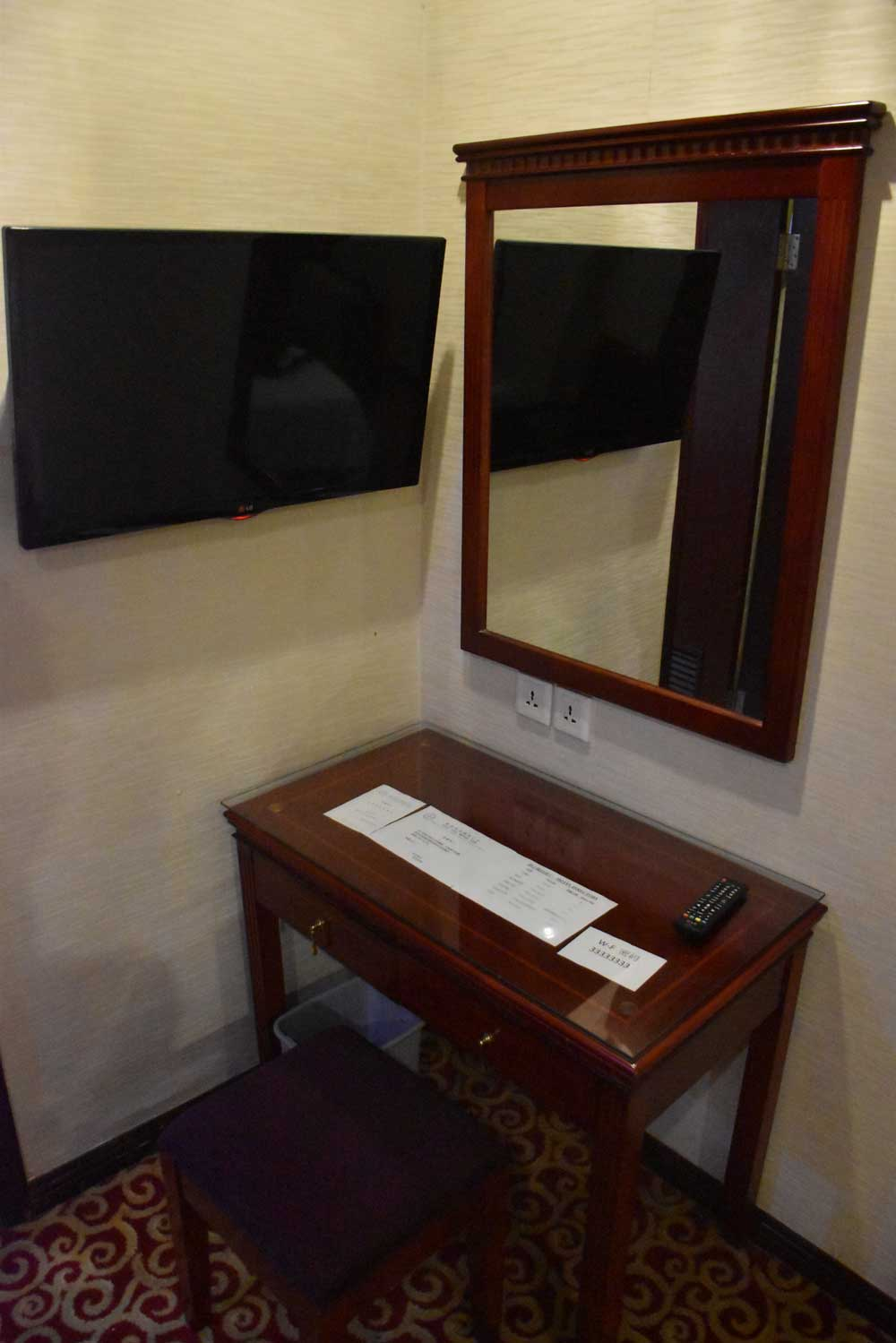 East Asia hotel desk and chair