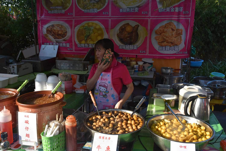 Macau Food Festival vendor selling fishballs