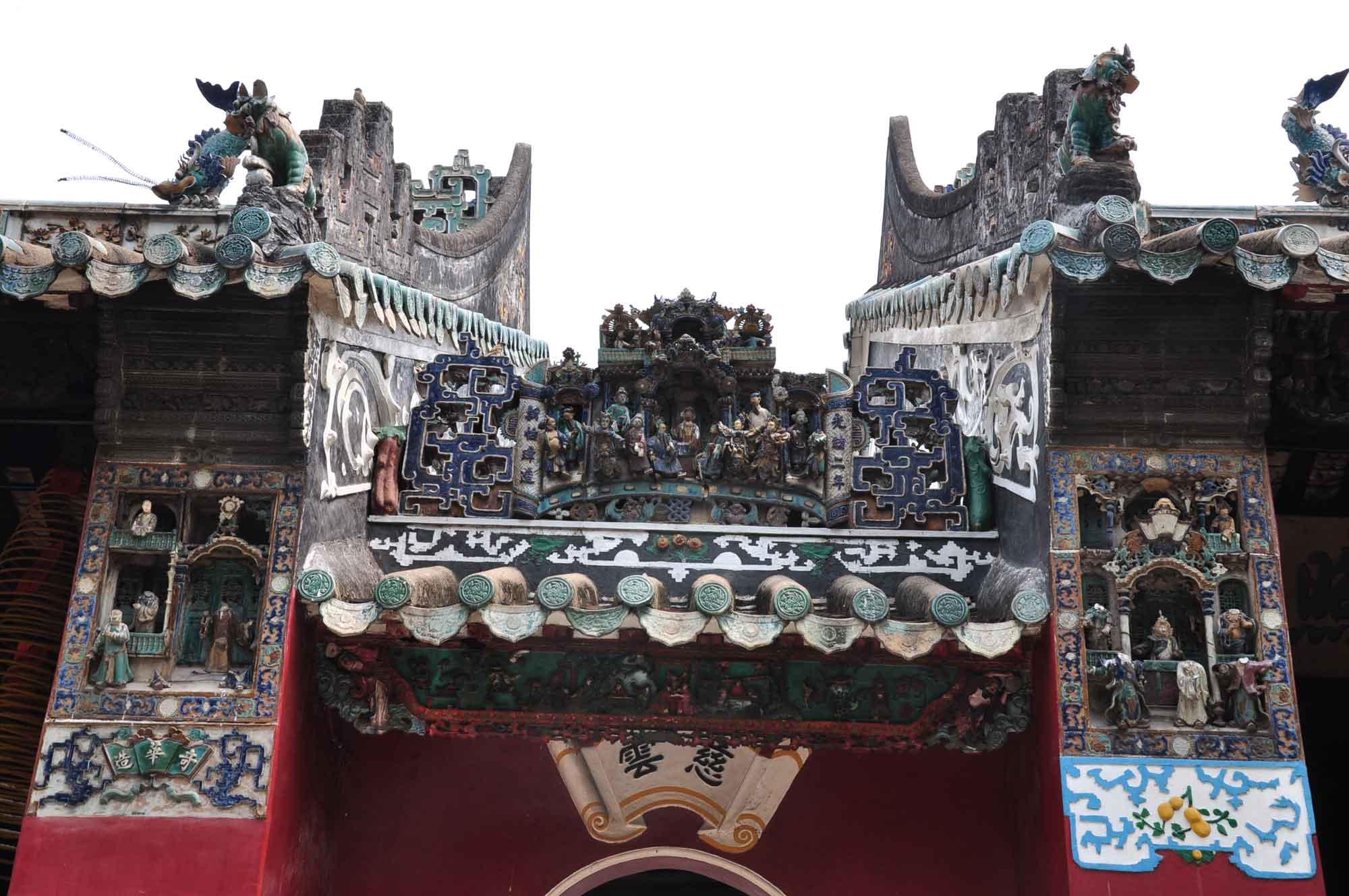 Kun Ian Temple friezes and figures
