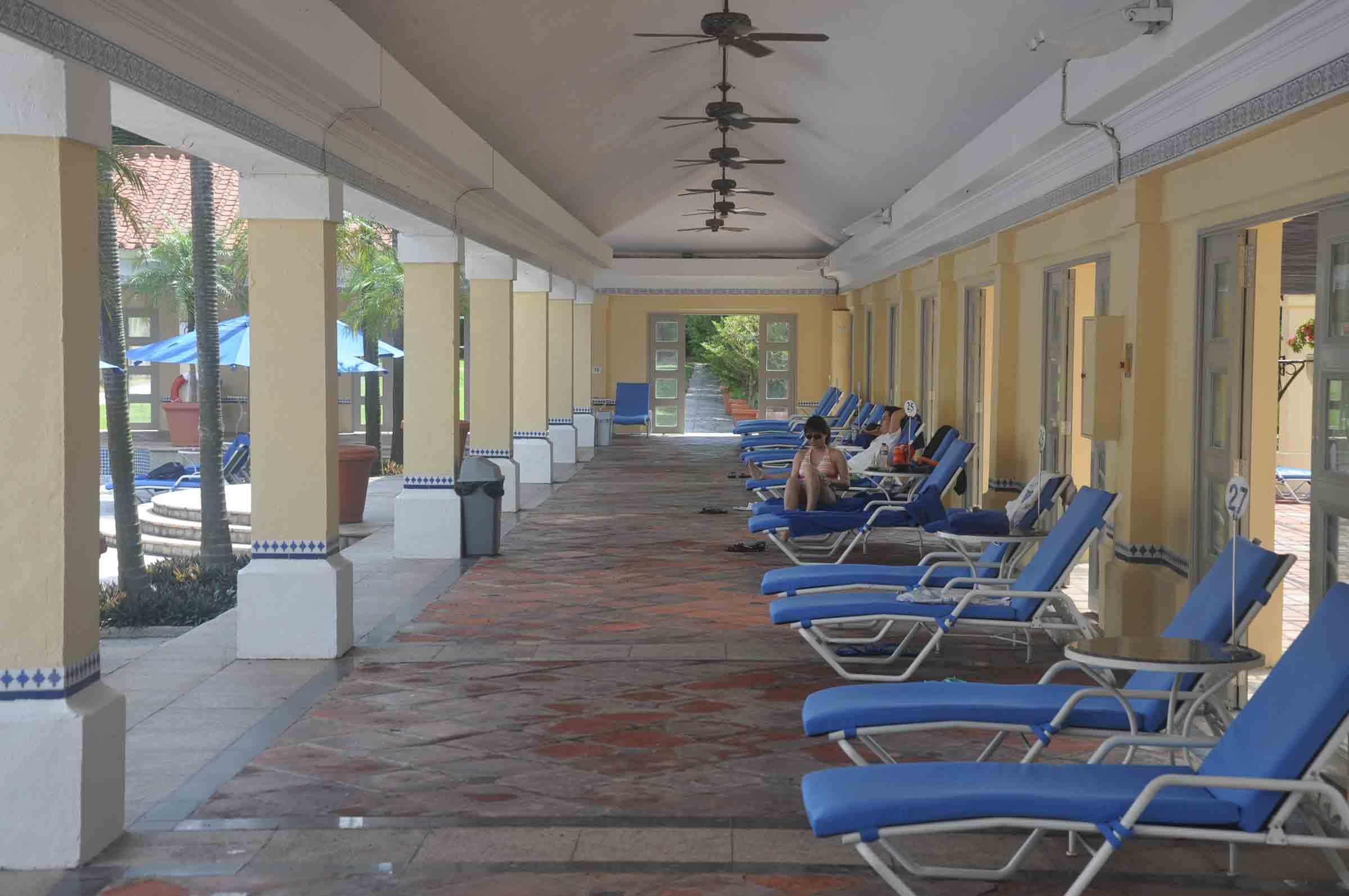 Grand Coloane Resort swimming pool chairs