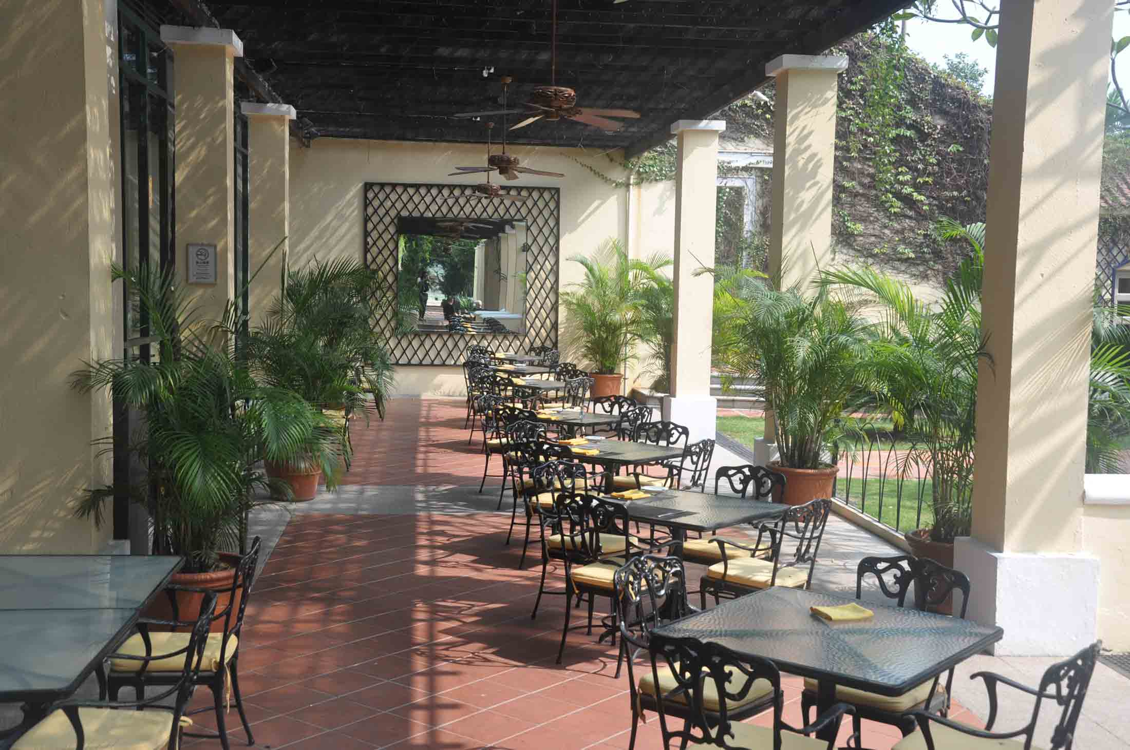 Grand Coloane Resort outside seating