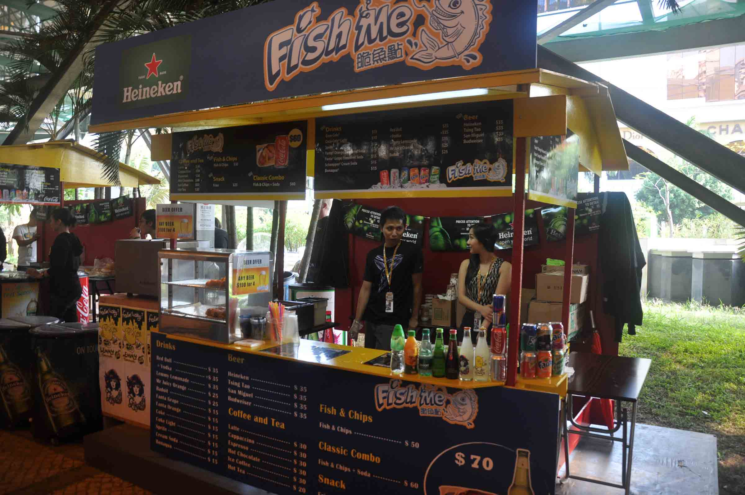 Macau F3 Grand Prix Race food booth