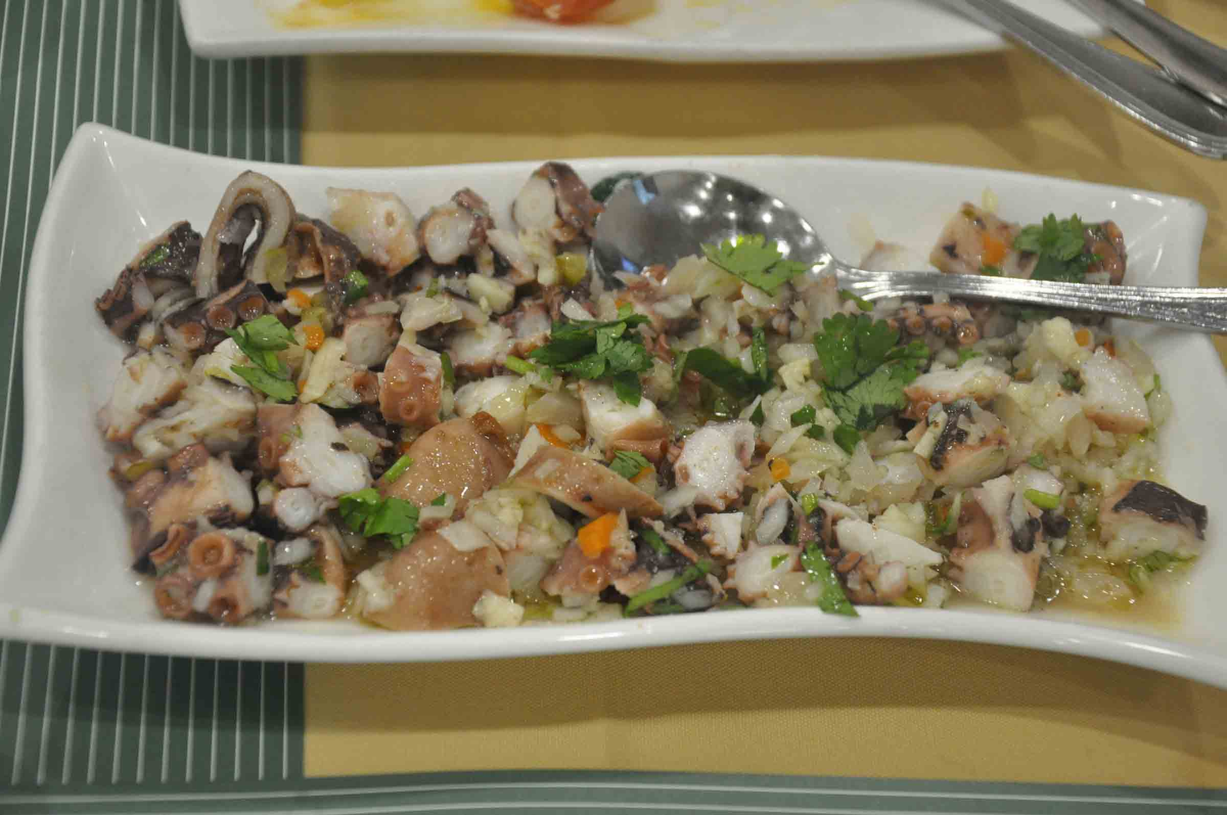 Apo Mac Restaurant octopus salad