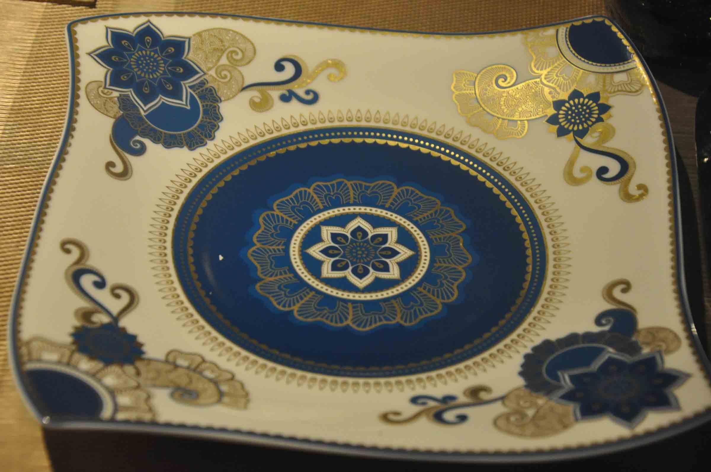 Golden Peacock Macau plate