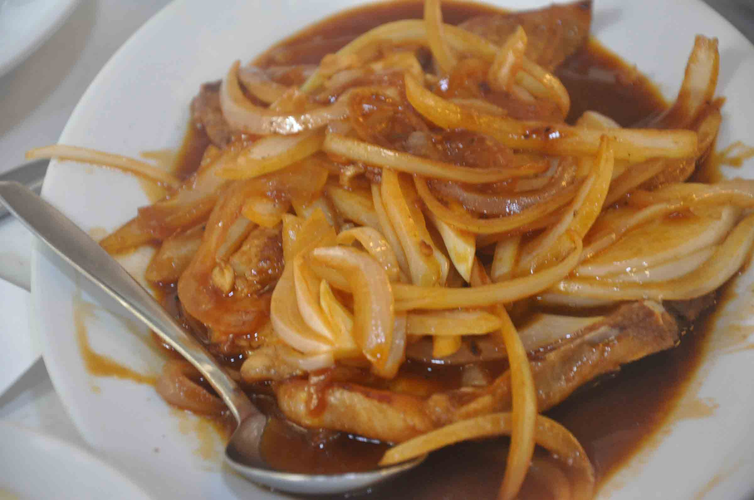Rickshaw Macau pork chop with onions