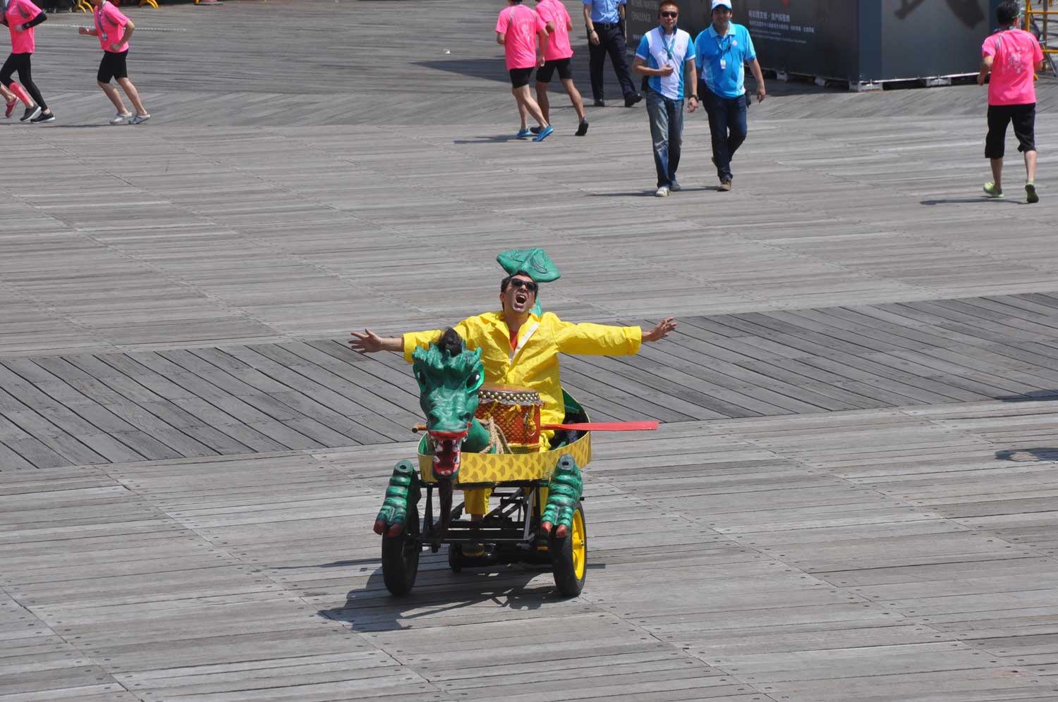 Macau Dragonboat Races crazy guy