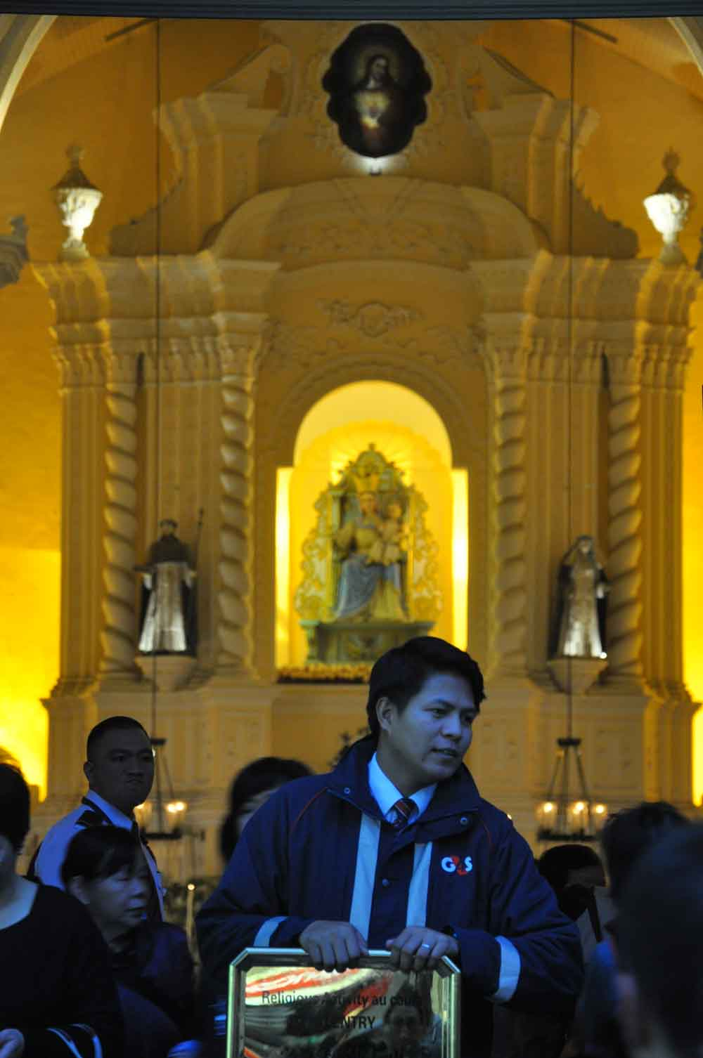 Passion of Our Lord Procession St. Dominic Church security guard