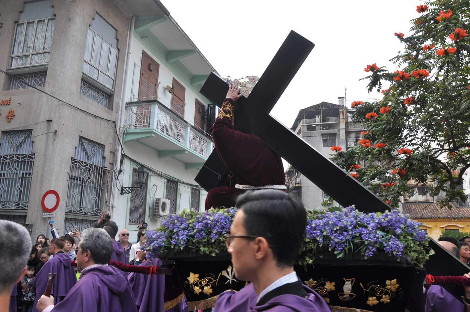 Passion of Our Lord Procession cross outside of Cathedral
